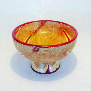 Eastern Red Cedar Bowl with Red Resin Accents