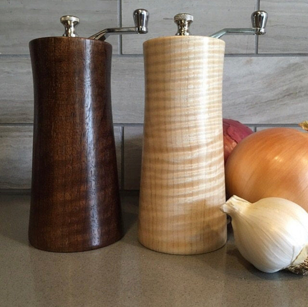 Salt, Pepper, Grinder, Salt and Pepper Grinder, peppermill, salt mill, salt grinder, pepper grinder, thomasfinewoodworks, thomas fine woodworks, aaron thomas, thomas woodwork, woodworking, woodturning