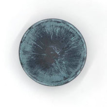 Load image into Gallery viewer, Wood Bowl: Bronze with Blue Patina