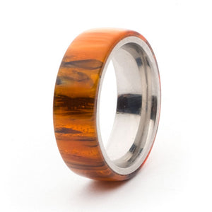 Acrylic and Stainless Steel Comfort-Fit Rings, Antique Gold