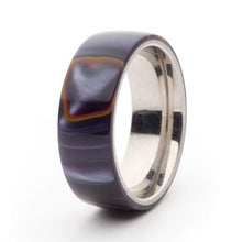 Load image into Gallery viewer, Acrylic and Stainless Steel Comfort-Fit Rings, Firestorm