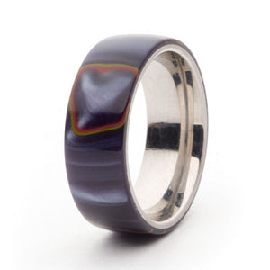 Acrylic and Stainless Steel Comfort-Fit Rings, Firestorm