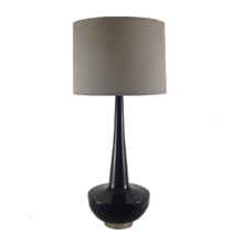 Load image into Gallery viewer, Black Handmade Maple Lamp With Nickel Hardware by A.B. Thomas