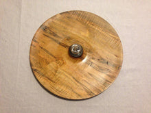 Load image into Gallery viewer, 14-in. Hand Turned Ambrosia Maple Platter with Hand blown Glass Oil Lamp