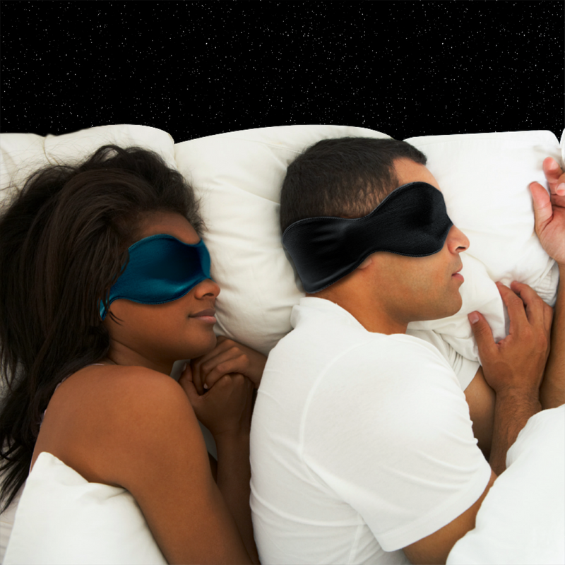 3-in-1 Sleep Mask, Black