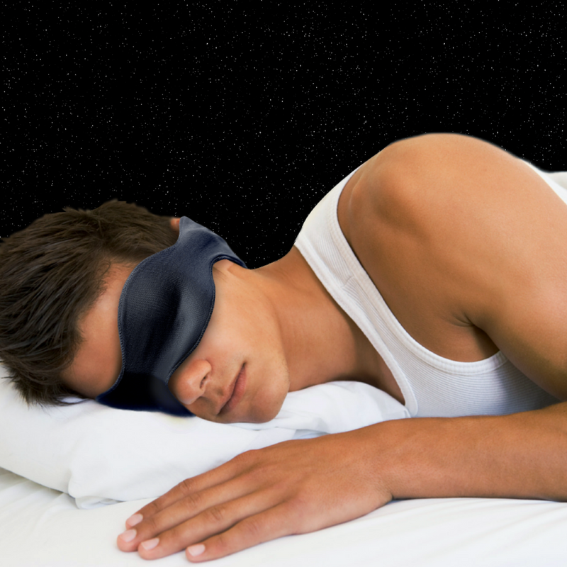 3-in-1 Sleep Mask, Dark Blue