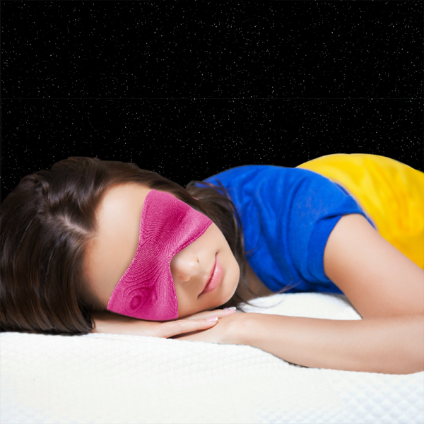 3-in-1 Sleep Mask, Pink
