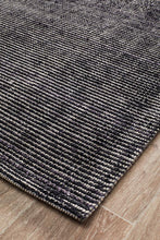 Caribe Black Cotton Rayon Rug