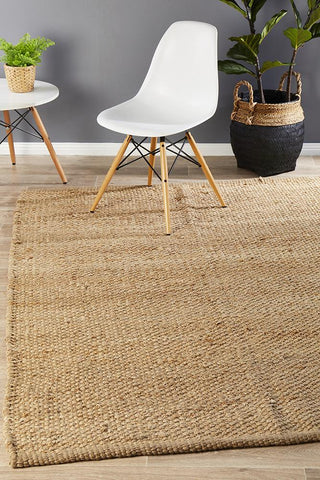 Costa Basket Weave Natural Rug