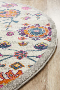 Kirra Multi Colour Round Rug