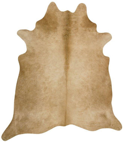 Natural Cow Hide Beige Rug