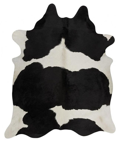 Natural Cow Hide Black White Rug