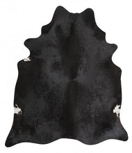 Natural Cow Hide Black Rug