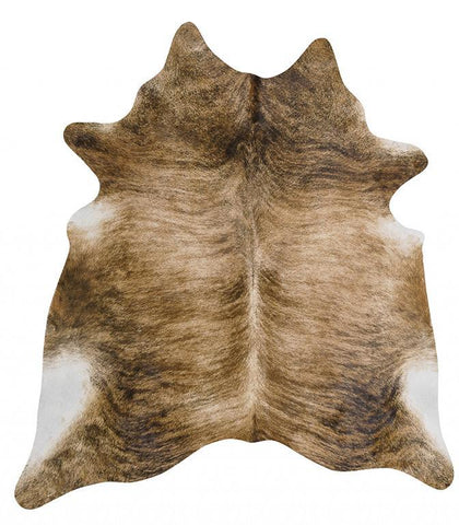 Natural Cow Hide Brindle Rug
