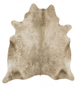 Natural Cow Hide Champagne Rug