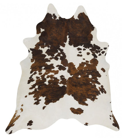 Natural Cow Hide Black Tricolor Rug