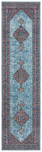 Persa Diamond Blue Runner Rug