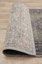 Persa Diamond Grey Runner Rug
