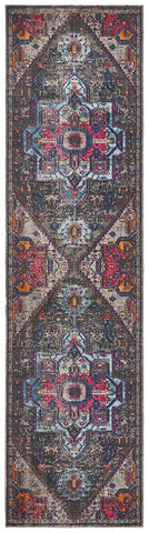 Persa Quad Grey Runner Rug