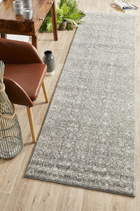 Aurora Pidgeon Grey Transitional Runner Rug