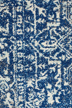 Aurora Contrast Navy Transitional Runner Rug
