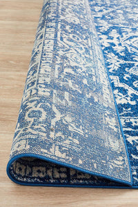 Aurora Contrast Navy Transitional Rug