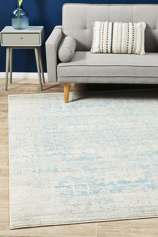 Aurora Glacier White Blue Transitional Rug