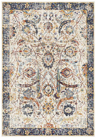 Aurora Peacock Ivory Transitional Rug