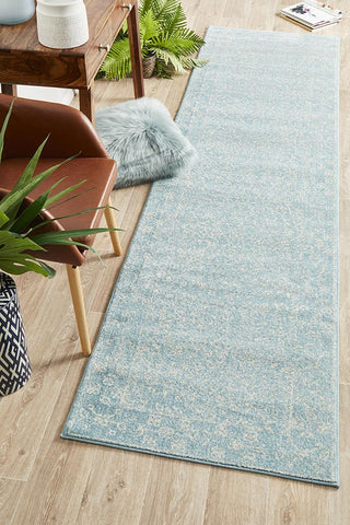 Aurora Depth Blue Transitional Runner Rug