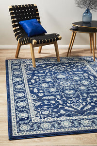 Aurora Release Navy Transitional Rug