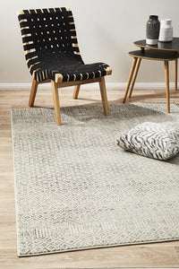 Aurora Diamond Grey Transitional Rug