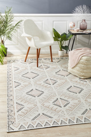 Tulum White Peach Rug
