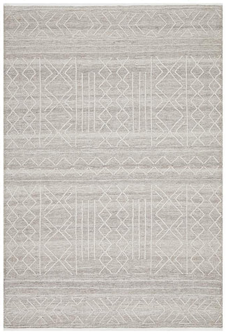 Tulum Stitch Woven Natural Rug
