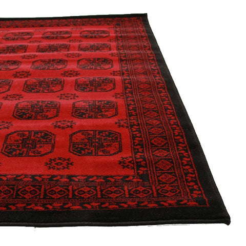 Istanbul Classic Afghan Pattern Runner Rug Red