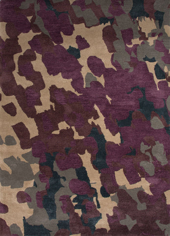 Veeraa Hand Tufted Wool & Viscose Purple Multicolour Rug
