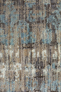 Luxor Fluid Nights Modern Blue Rug