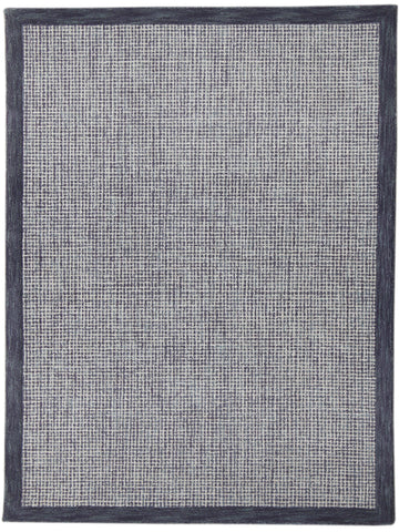 Veeraa Idina Navy Grey Hand Tuffted Wool rug