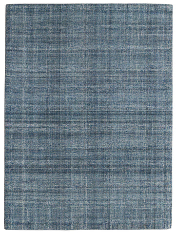 Veeraa Laurel Tourquise Blue Hand Tufted Wool rug