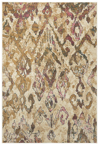Ankara Soft Pink And Beige Rug