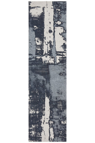 Jacaranda Denim Blue Runner Rug