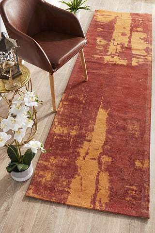 Jacaranda Paprika Orange Runner Rug