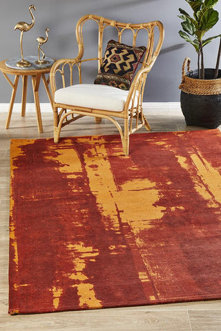 Jacaranda Paprika Orange Rug
