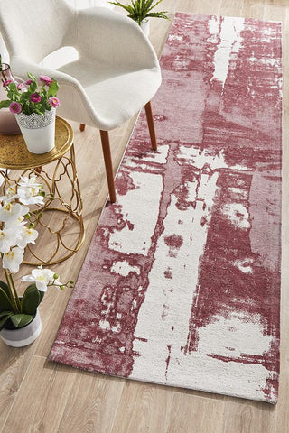 Jacaranda Rose Red Runner Rug