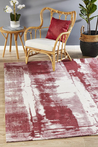 Jacaranda Rose Red Rug