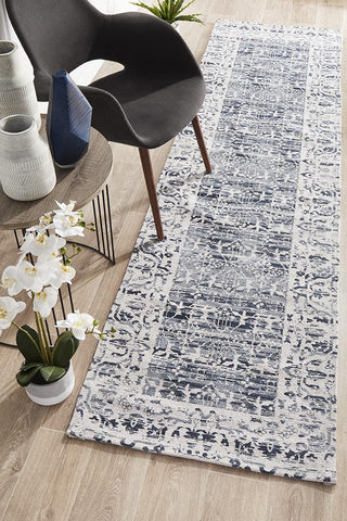 Jacaranda Denim Runner Rug
