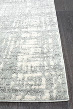 Mirage Ashley Abstract Modern Silver Grey Runner Rug