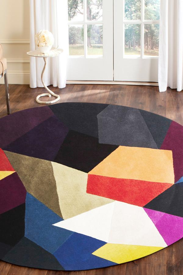 Matrix Pure Wool Crayon Round Rug