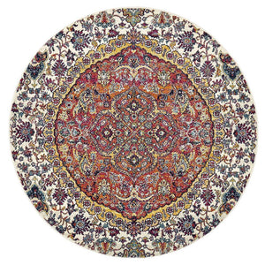 Museum Shelly Rust Round Rug