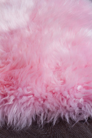 Kia New Zealand Blush Pink Sheep Skin Rug