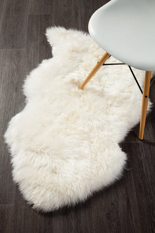 Kia New Zealand White Sheep Skin Rug
